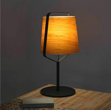 Lampe A Poser Stood Bois Noir Led O27cm H71cm Faro