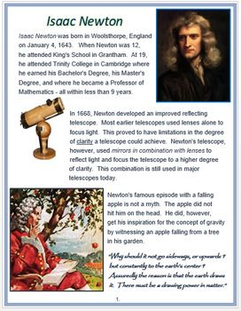 Isaac Newton Assessment Isaac Newton This Or That Questions