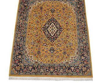 Mustard Yellow Rug Colorful Medallion