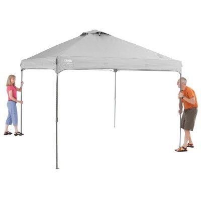 Coleman Instant Canopy With Sunwall 10 X10 Gray Instant Canopy Canopy Pop Up Canopy Tent
