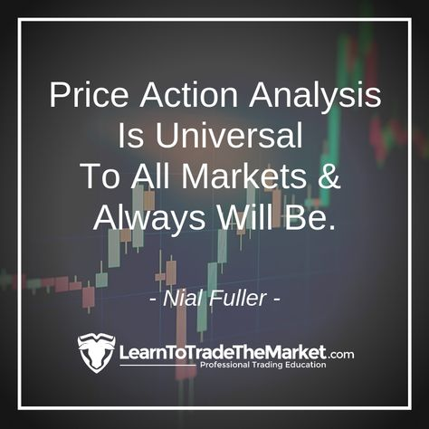 Price Action Analysis Is Universal To All Markets & Always Will Be.