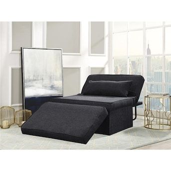 Relax A Lounger The Milton Otto Kube Multi Functional Ottoman Chair Charcoal Lowes Com Chair And Ottoman Upholstered Ottoman Upholstered Fabric