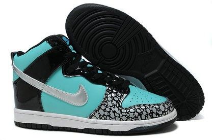 the latest dc914 bcb3e Blue Nike High Top Dunks Pattern Tiffany Shoes For Sale Online