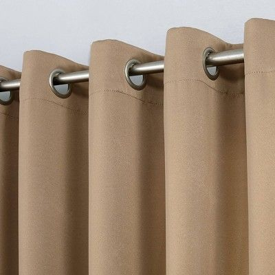 40 X 108 Kenneth Blackout Energy Efficient Grommet Curtain Panel Taupe Sun Zero In 2020 Panel Curtains Grommet Curtains Curtains