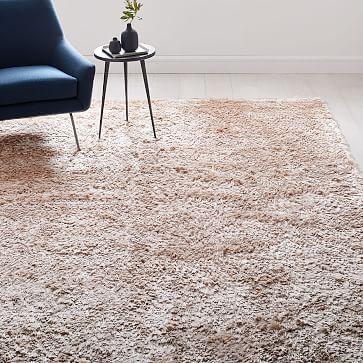 Glam Shag Rug Rose Gold Westelm Shag Rug Plush Rug Classic Carpets