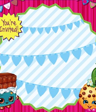 FREE Shopkins birthday party invitation printable file Shopkins