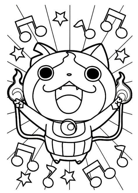Coloriages Gratuits Yo Kai Watch In 2020 Hello Kitty Wallpaper