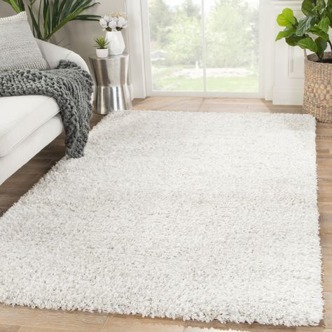 Rhys Solid White Silver Area Rug 7 10 X 10 7 10 X 10 White Silver Gray Juniper Home Area Rugs White Area Rug