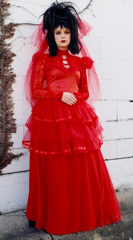Get A Look From The Grave In Our Beetlejuice Costumes We Have Beetlejuice And Lydia Costumes O Movie Wedding Dresses Beetlejuice Wedding Wedding Dress Costume