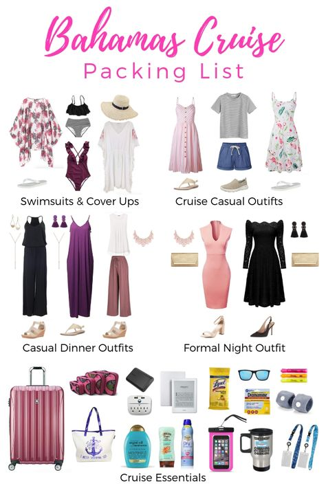 Bahamas Cruise Packing List - What to Wear on a Bahamas Cruise - Reise Tipps Loading. Bahamas Cruise Packing List – What to Wear on a Bahamas Cruise Honeymoon Cruise, Bahamas Cruise, Cruise Travel, Cruise Vacation, Beach Vacation Packing List, Carnival Cruise Bahamas, Hawaii Vacation Outfits, Travel Packing, Spring Vacation