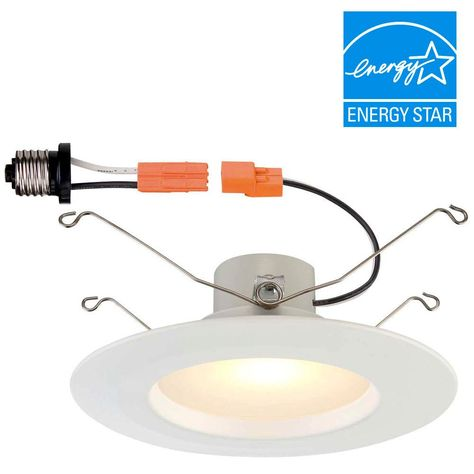 and 6 in White Integrated LED Dimmable Recessed Trim Commercial Electric 5 in