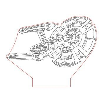 Star Trek Ship 3d Illusion Lamp Plan Vector File Op For Laser And Cnc 3bee Studio 3d Illusions 3d Illusion Lamp Illusions