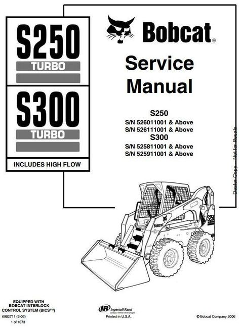 bobcat skid steer loader s250 s300 s n a5gm a5gn a5gp a5gr 20001 rh pinterest com Bobcat 7 Pin Wiring Diagram Bobcat Alternator Wiring Diagram