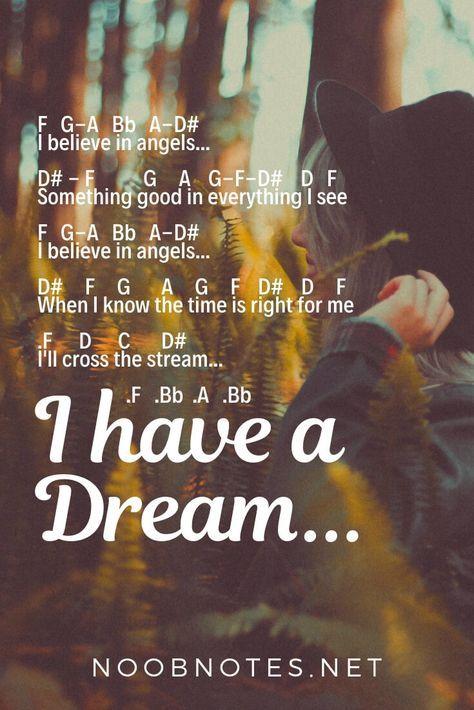 I Have A Dream - ABBA | Zongora | Easy piano sheet music, Easy piano
