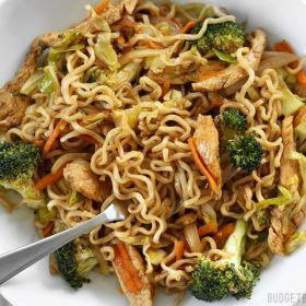 Homemade Chicken Yakisoba Step By Step Photos Budget Bytes Recipe Chicken Yakisoba Yakisoba Recipe Food