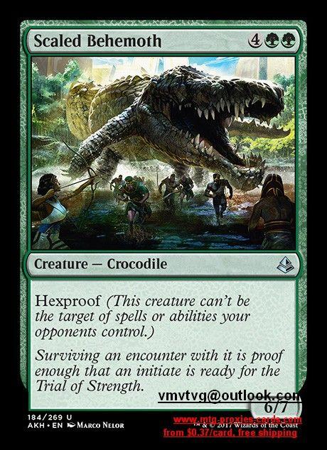 Scaled Behemoth Akh Amonkhet Masterpiece Inovations Mtg Magic The Gathering Proxy Cards Free Shipping From 0 37 Us Dollar Thing 1 Criatura Cocodrilo
