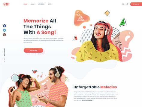 Homepage design for musical tool