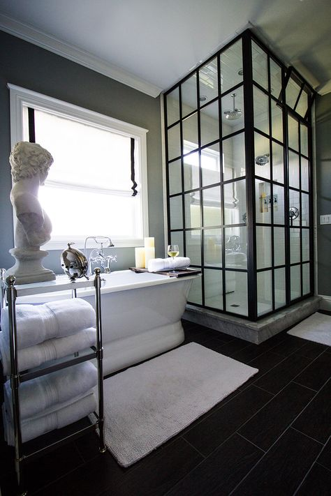 Pedestal Tub & Shower - The Stiers Aesthetic
