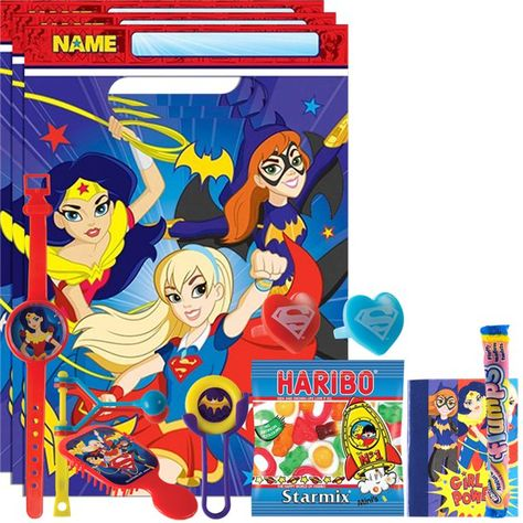 Dc Super Hero Girls Party Bag Kit Party Supplies Party Bag