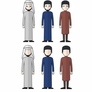 Couple Muslim Karakter Muslim Illustration Vector Png And Vector With Transparent Background For Free Download In 2021 Human Vector Islamic Girl Muslim Character