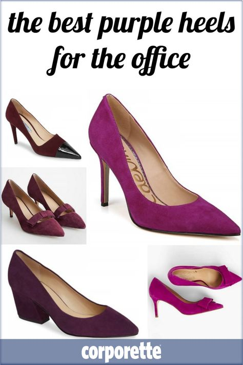 750aa2aad47 I always feel like a purple heel for the office is insanely versatile  whether you re in a business casual or conservative office -- wear purple  heels with ...