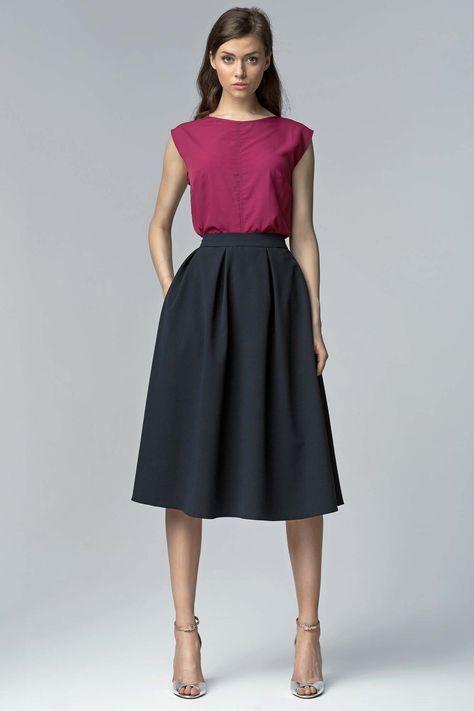 ❤️mademoisellegrenade❤️ jupe longue plissée, taille haute.