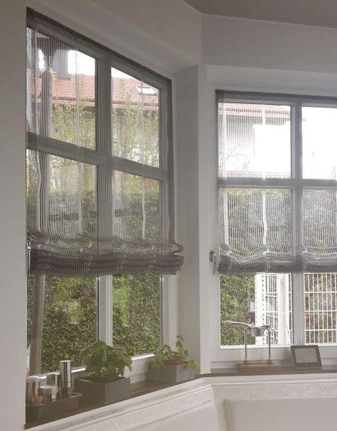 Diese Raffrollos für an die Fenster das würde chic aussehen und