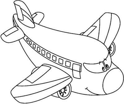 Espaco Educar Desenhos Pintar Colorir Imprimir Aviao Para