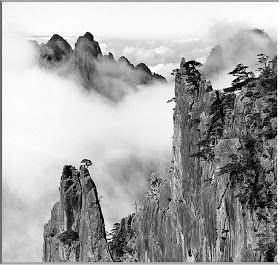 Wang Wusheng Huangshan Yellow Mountains Chinese Landscape Painting Beautiful Paintings Of Nature Black And White Landscape