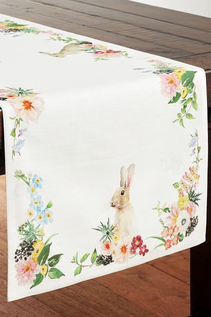 Easter Table Party of Four Easter Table Linens Spring Table Linens Easter Placemats Spring Tablecloth and Placemats Easter Tablecloth