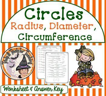 Circles Radius Diameter Circumference Worksheet With Answer Key
