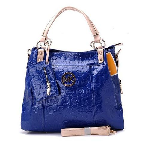 Cheap Michael Kors Classic Monogram Large Blue Totes Clearance | See more about michael kors, monograms and totes.