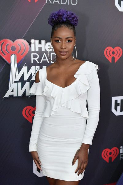 Justine Skye attends the 2018 iHeartRadio Music Awards which broadcasted live on TBS, TNT, and truTV at The Forum.