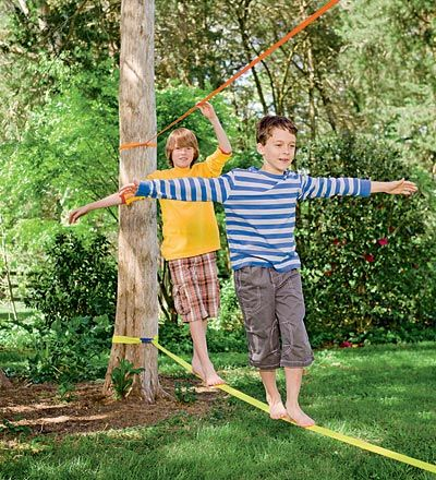 Classic Slackline with Training Line