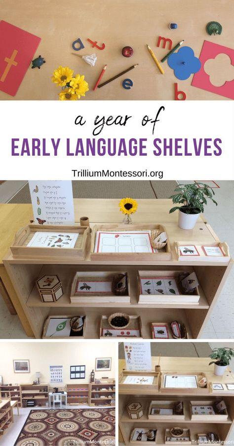 A Year of Early Language Shelves - Trillium Montessori