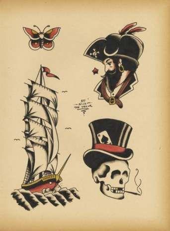 Pirate temporary tattoos | Etsy