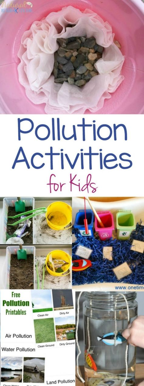 15+ Pollution Activities for Kids - Earth Day Science Activities