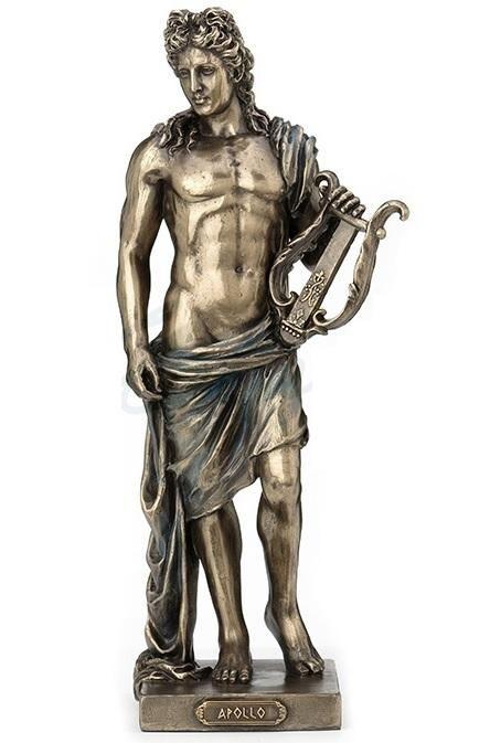 Roman Bronze Figurine of God Apollo with a Bow