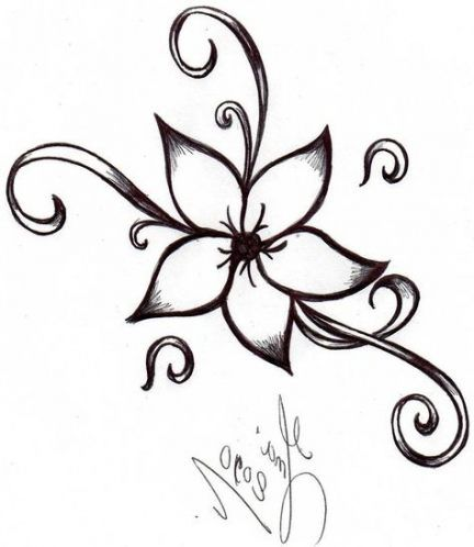 Trendy Flowers Design Easy Ideas Flower Drawing Design Simple Flower Drawing Simple Flower Design