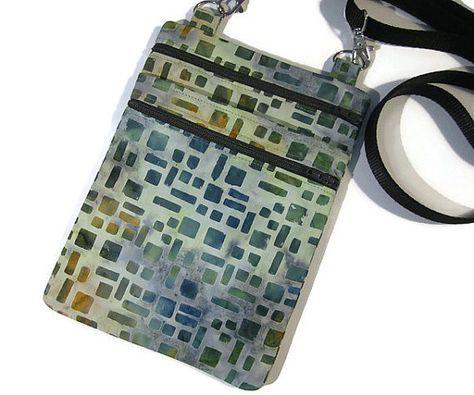 886fd80e18ff Small cross body bag Fabric sling bag Cell phone bag