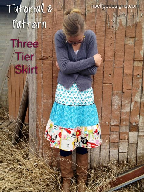 making a tiered skirt