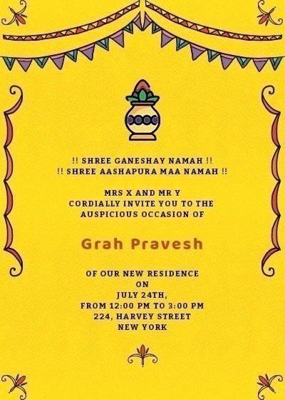 Gruhapravesam Invitation In Telugu Luxury A I Housewarming Invitat Housewarming Invitation Cards Housewarming Invitation Templates House Warming Invitations
