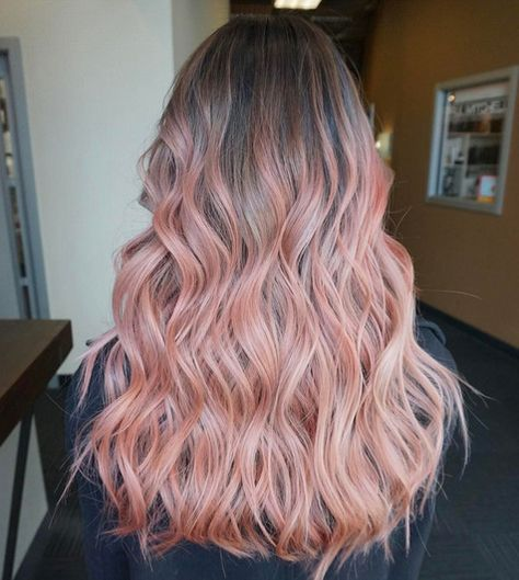 Mauve to Peach Melt - Rose Gold Hair Ideas That'll Have You Dye-Ing For This Magical Color - Photos