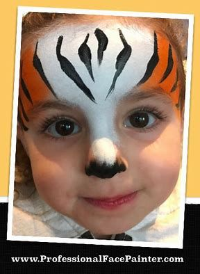 Easy Tiger Face Paint Face Painting Easy Lion Face Paint Tiger Face Paints