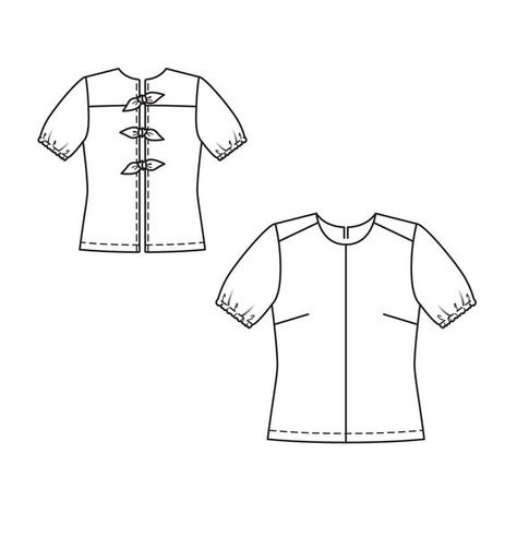 87cd8af860c Блузка - выкройка № 3 A из журнала 1 2013 Burda. Шить легко и быстро – выкройки  блузок на Burdastyle.ru