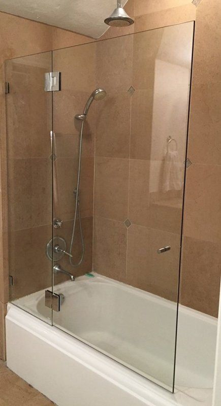 48 5 W X 58 H Hinged Frameless Tub Door 1000 In 2020 Bathroom Remodel Shower Tub Doors Tub Shower Doors