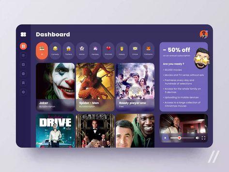 Cinema app UI Design