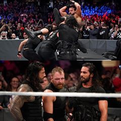 Image May Contain 12 People Crowd Roman Reigns Match 3 Reign
