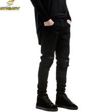 d40c801d 2018 New Black Ripped Jeans Men With Holes Denim Super Skinny Famous  Designer Brand Slim Fit