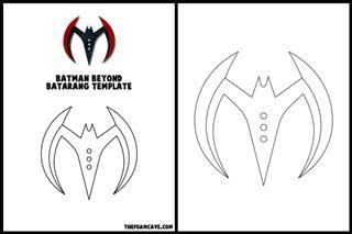 Template For Batman Beyond Batarang Etsy Batman Beyond Templates Batman